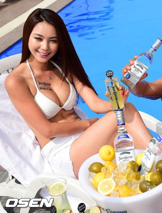 [핫포토] 도심속 수영장에서 '데킬라 한 잔 하실래요?'