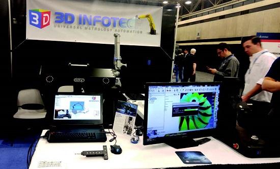 3D인포테크는 마치 펜처럼 손에 쥐고 스캐닝함으로써 역설계 데이터를 얻을 수 있는 제품이다.